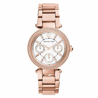 Michael Kors Mini Parker Rose Gold Tone Bracelet Watch - Product number 2219220
