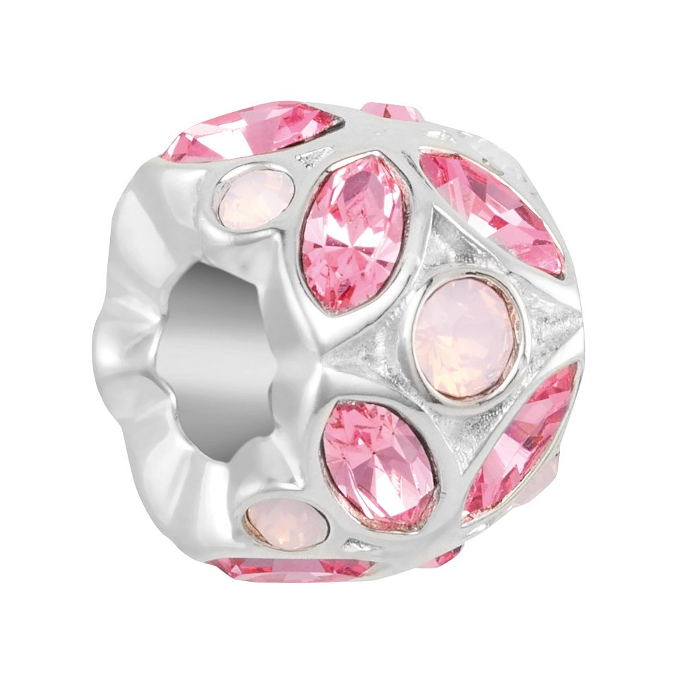 Chamilia Stained Glass Charm with Rose Swarovski Crystal - Product number 2219352