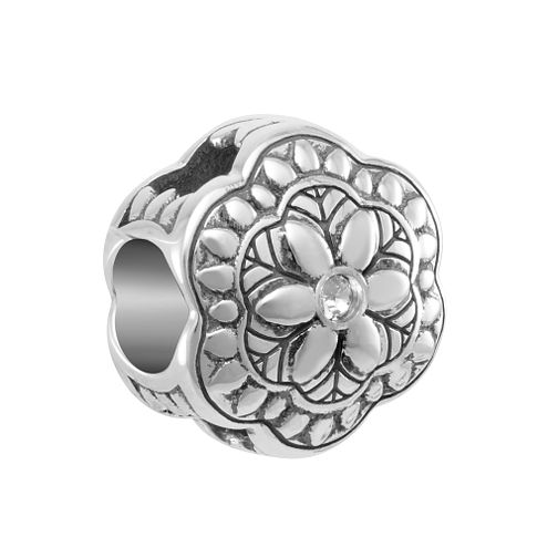 Chamilia Folksy Floral Charm with White Swarovski Crystal - Product number 2219441