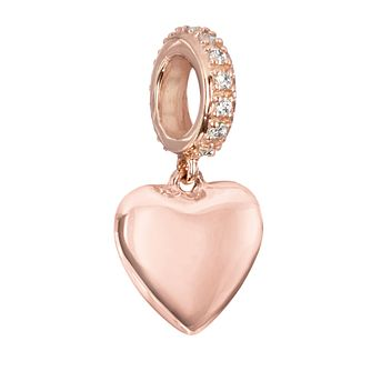 Chamilia Rose Gold & Swarovski Zirconia Hanging Heart Charm - Product number 2220857