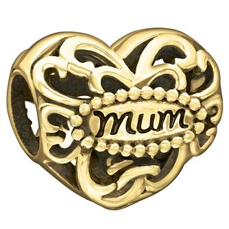 Chamilia 10Ct Yellow Gold Filigree Mum Heart Charm - Product number 2220997
