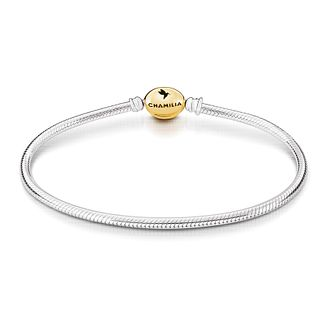 "Chamilia Gold Tone Oval Snap Bracelet 7.5"" - Product number 2221098"