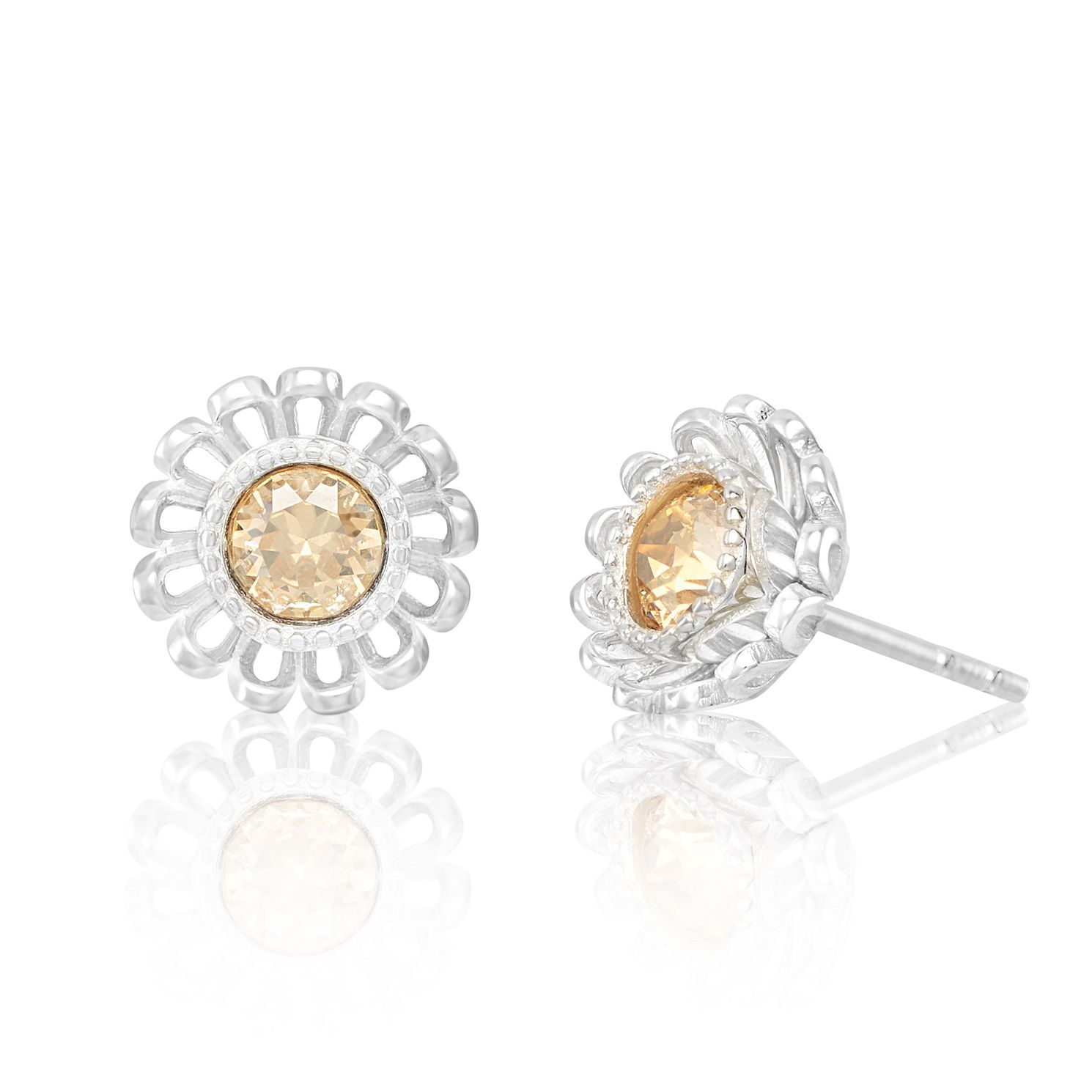 Chamilia Daisy Post Stud Earrings with Swarovski Crystal - Product number 2221195