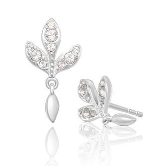 Chamilia Leaf Stud Earrings with White Swarovski Crystal - Product number 2221691