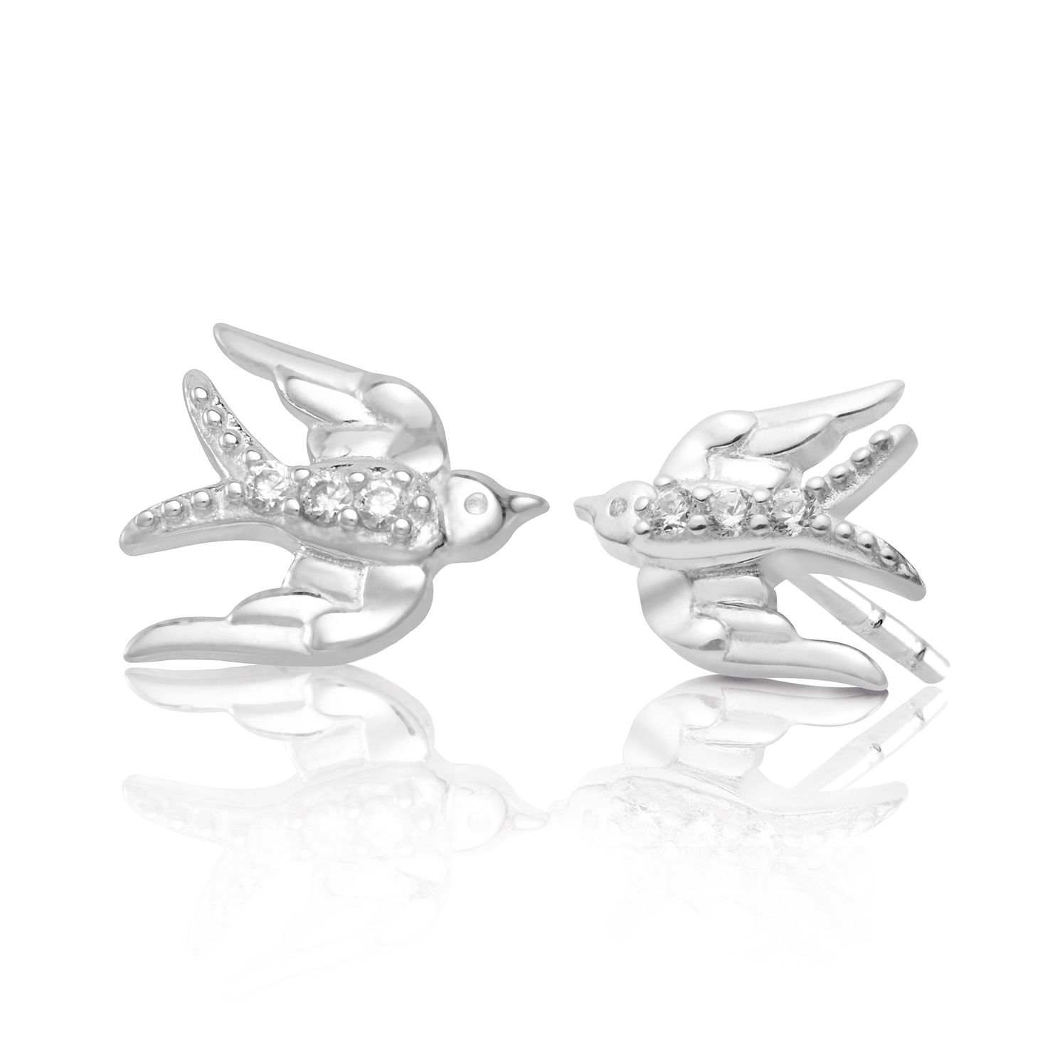 Chamilia Lovebird Stud Earrings with Swarovski Zirconia - Product number 2221748