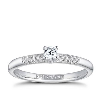 18ct White Gold 1/5ct Forever Diamond Ring - Product number 2223511