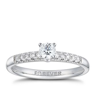 18ct White Gold 1/3ct Forever Diamond Ring - Product number 2223767