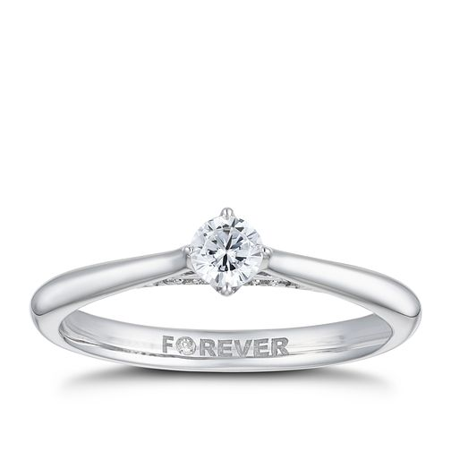 18ct White Gold 1/5ct Forever Diamond Ring - Product number 2224267