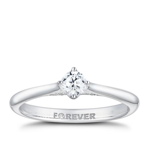 18ct White Gold 1/4ct Forever Diamond Ring - Product number 2224526