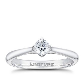 18ct White Gold 3/10ct Forever Diamond Ring - Product number 2224771