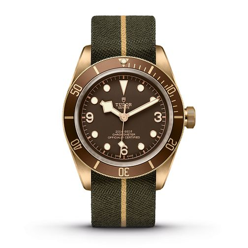 Tudor Black Bay Bronze Men's Diver Brown Fabric Strap Watch - Product number 2225034