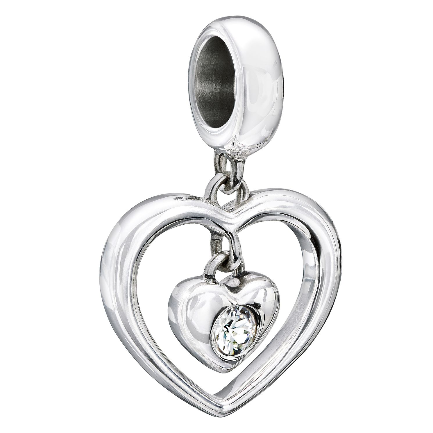 Chamilia Sterling Silver Swarovski Crystal  Heart Bead - Product number 2225727