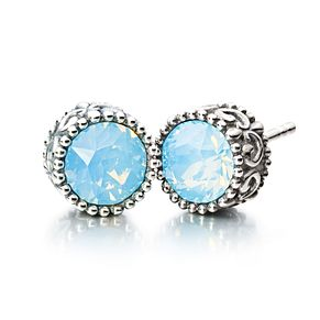 Chamilia silver & Swarovski blue crystal stud earrings - Product number 2227037