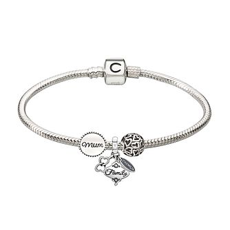 Chamilia silver bracelet & three Mum bead starter set - Product number 2227096