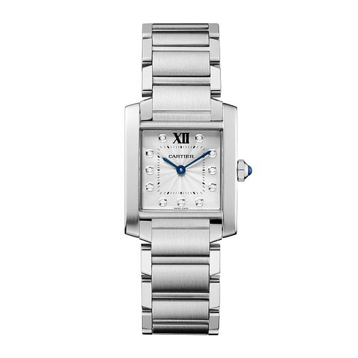 Cartier ladies' Tank Francaise stainless steel watch - Product number 2228084