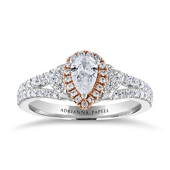 Adrianna Papell 14ct White & Rose Gold 0.66ct Diamond Ring - Product number 2228246
