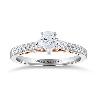 Adrianna Papell 14ct White & Rose Gold 0.50ct Diamond Ring - Product number 2229951