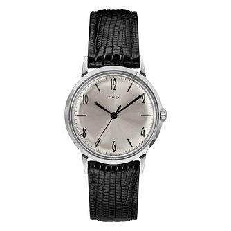 Timex Marlin Men's Black Leather Strap Watch - Product number 2230216