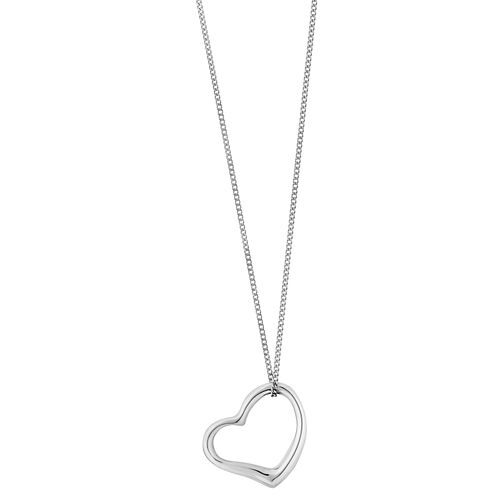 9ct white gold heart pendant - Product number 2231778