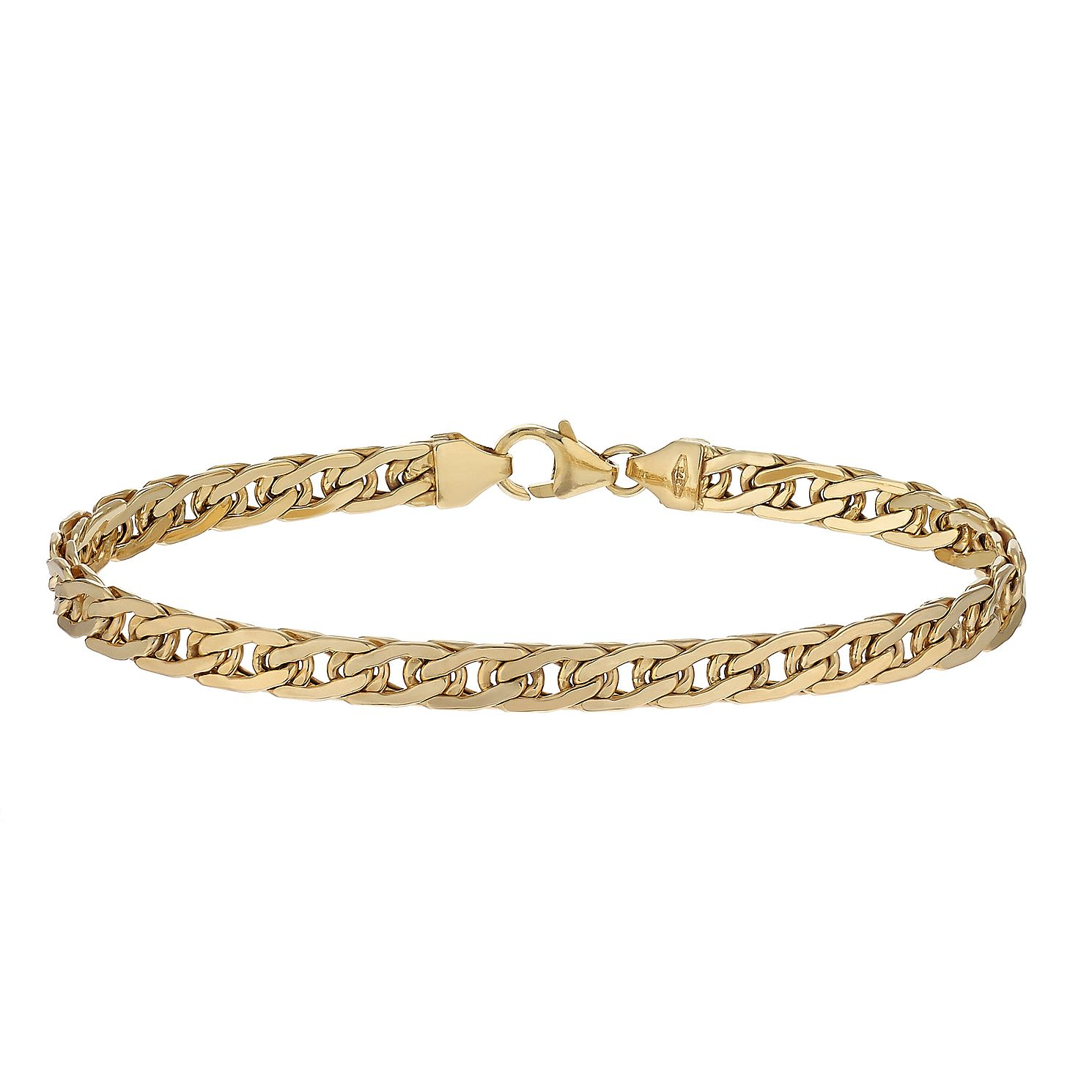 9ct Yellow Gold 7.5 Inch Double Curb Chain Bracelet - Product number 2231891