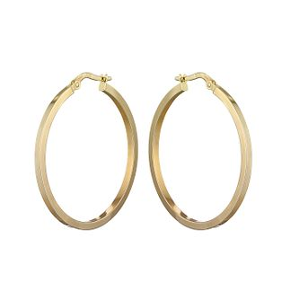9ct Yellow Gold 30mm Hoop Earrings - Product number 2232448