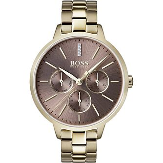 Hugo Boss Symphony Ladies' IP Gold Tone Bracelet Watch - Product number 2236044