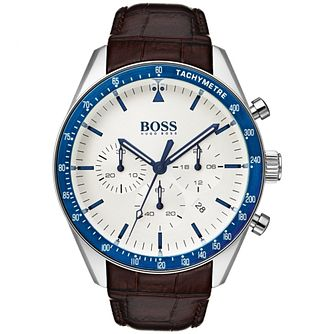 Hugo Boss Trophy Men's Brown Leather Strap Watch - Product number 2236117