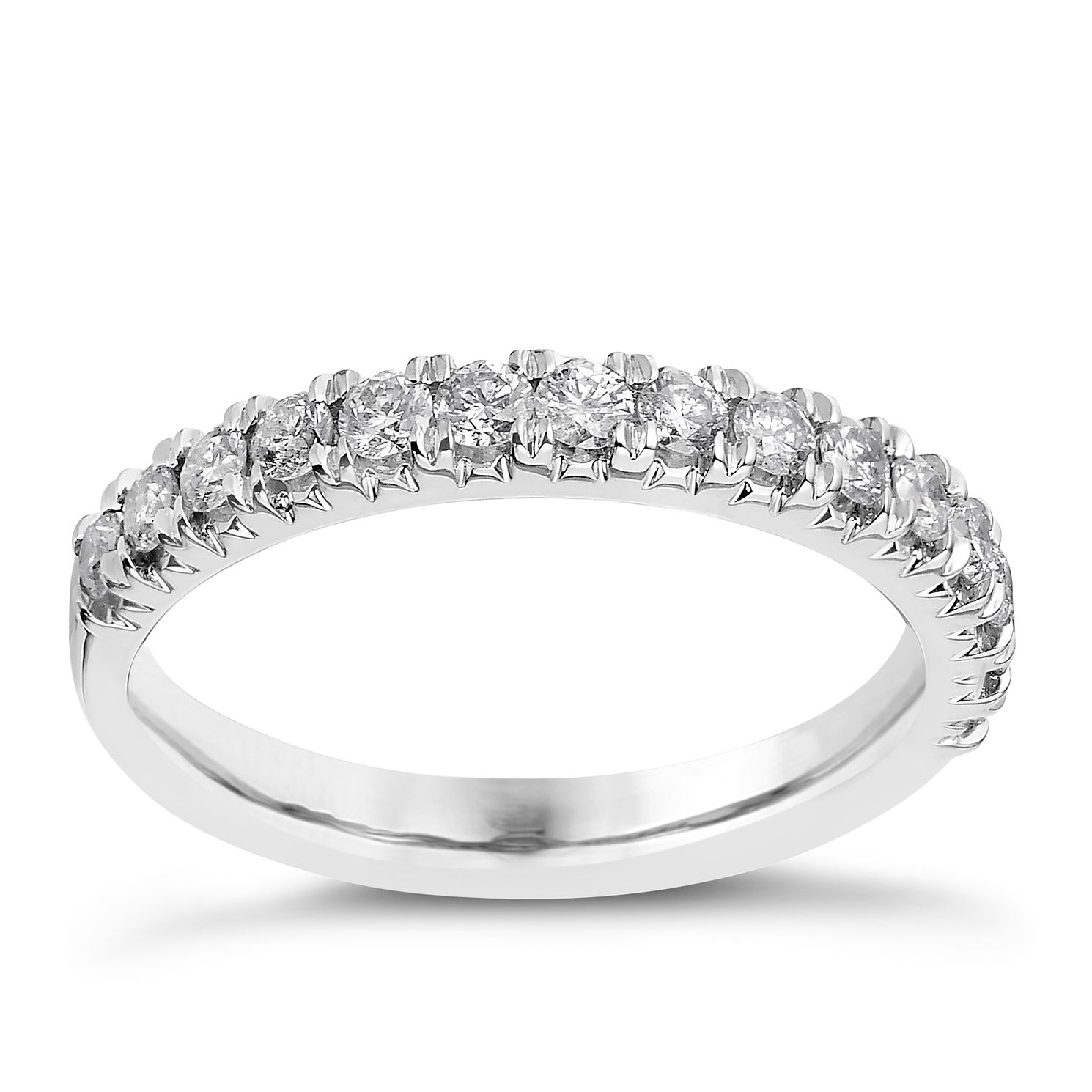 18ct White Gold 1/2ct Diamond Eternity Ring - Product number 2236192