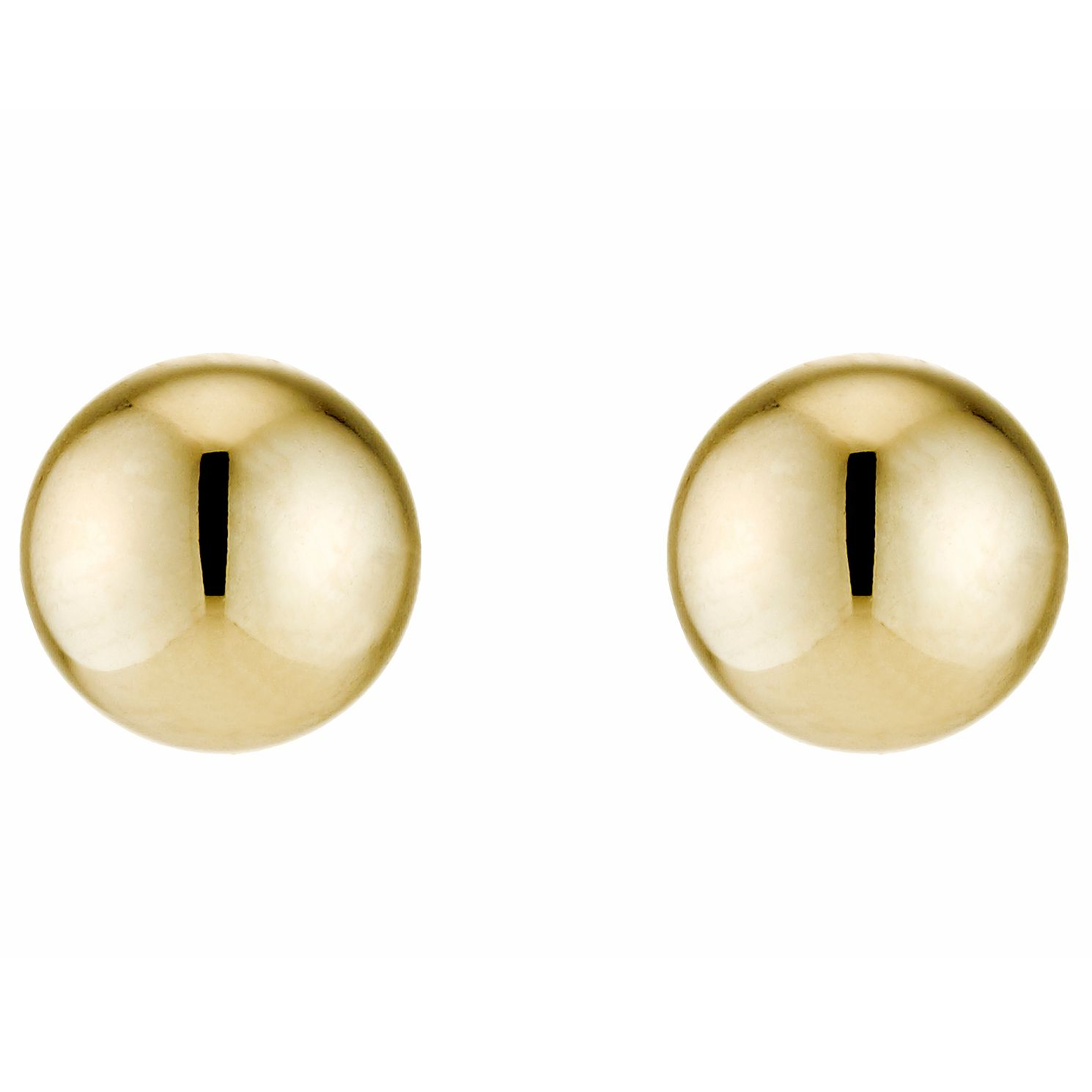 9ct Yellow Gold 5mm Ball Stud Earrings - Product number 2236796