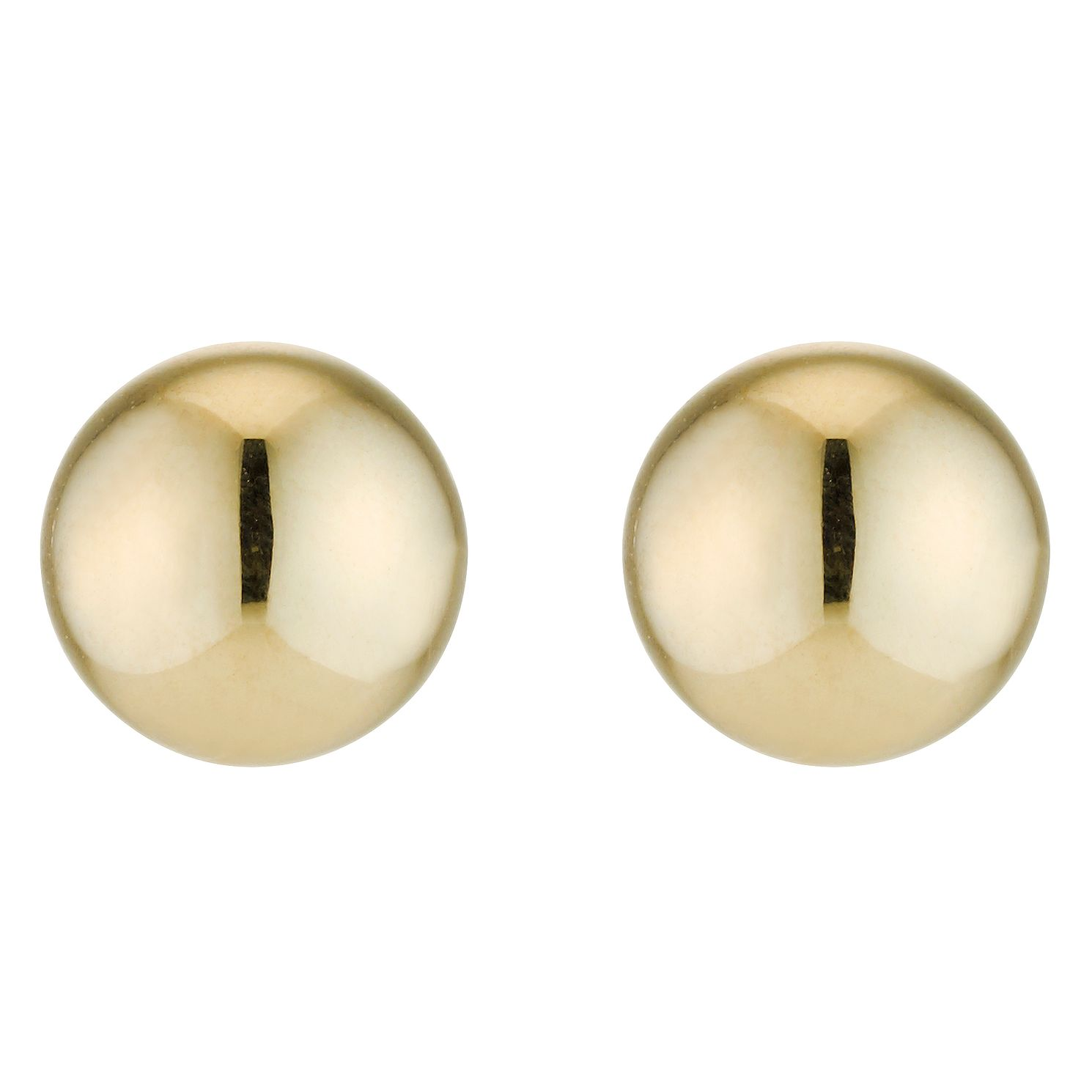 9ct Yellow Gold 6mm Ball Stud Earrings - Product number 2236818