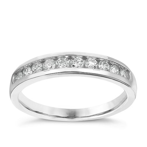 9ct white gold 1/3ct diamond channel set eternity ring - Product number 2239388