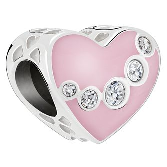 Chamilia Jeweled Swag Swarovski Crystal Heart Charm - Product number 2239426