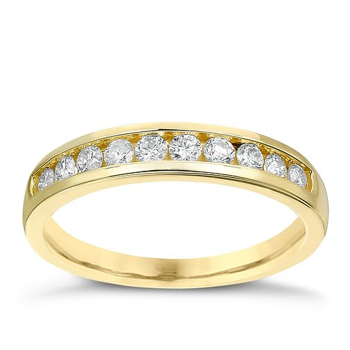 9ct gold 1/3ct diamond channel set eternity ring - Product number 2239531