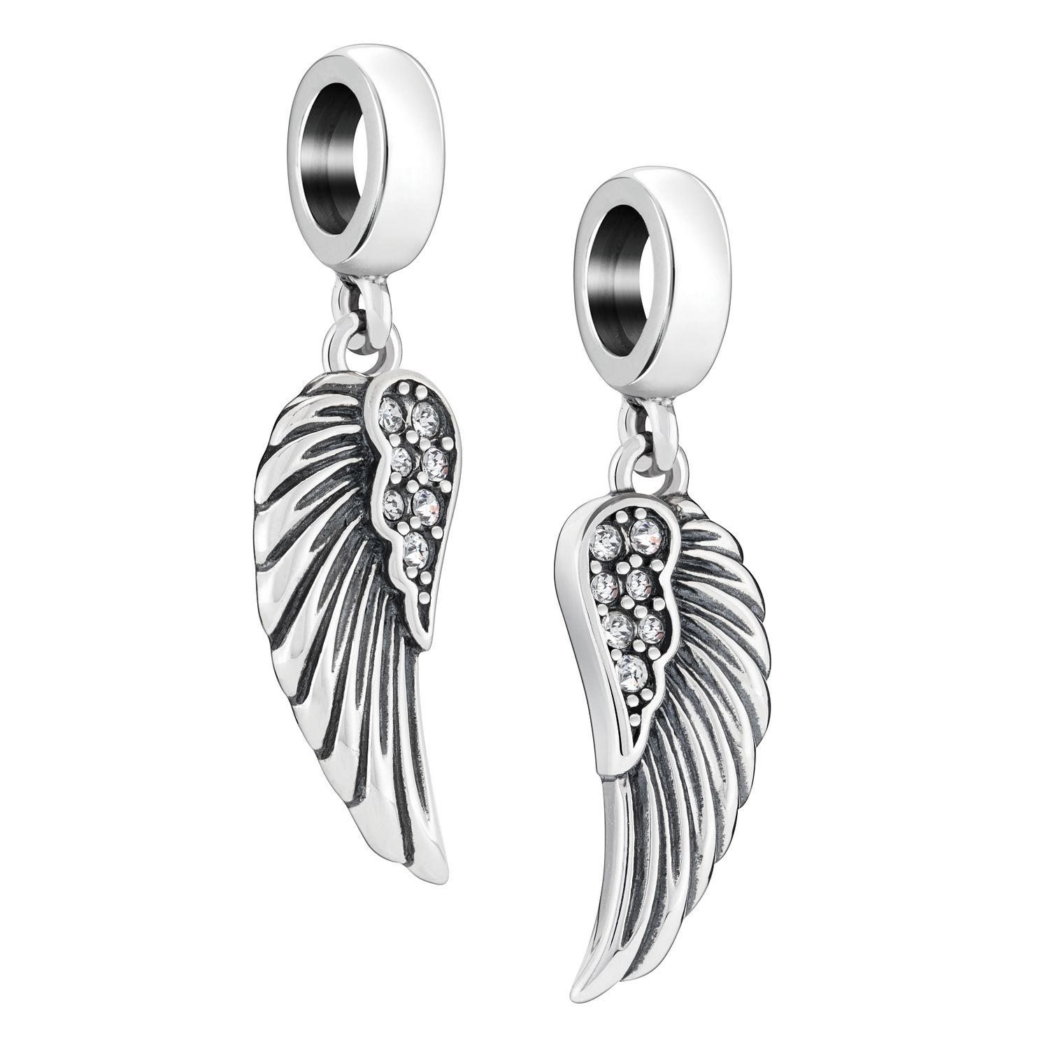 Chamilia Angel Wings Mother And Daughter Crystal Charm - Product number 2240335