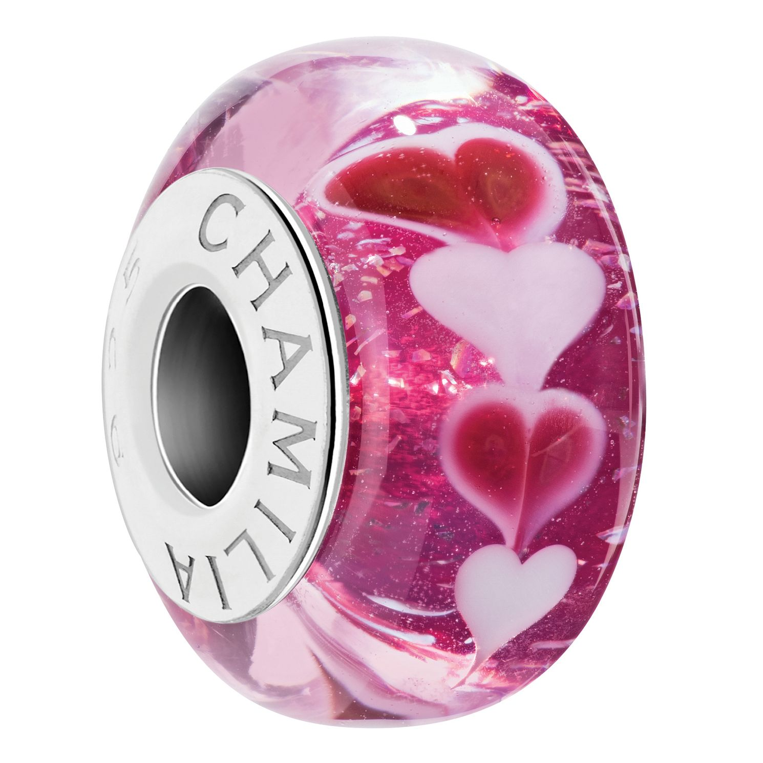 Chamilia Sweet Hearts Strawberry Murano Glass Charm - Product number 2241110