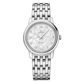 Omega De Ville Prestige Ladies Steel Diamond Bracelet Watch - Product number 2243717