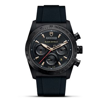 Tudor Fastrider Men's Black Shield Rubber Strap Watch - Product number 2244659
