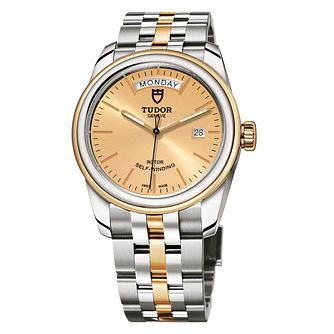 Tudor Glamour Date & Day Ladies' Two Tone Bracelet Watch - Product number 2244810