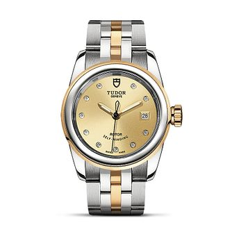 Tudor Glamour Date Ladies' Two Tone Bracelet Watch - Product number 2245094