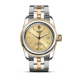 Tudor Glamour Date Ladies' Two Tone Bracelet Watch - Product number 2245108