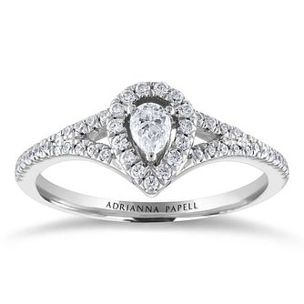 Adrianna Papell 14ct White Gold 0.30ct Diamond - Product number 2245612