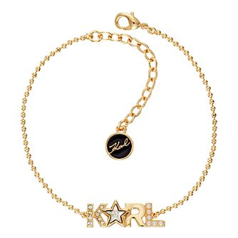 Karl Lagerfeld Klassic K Star Gold Plated Bracelet - Product number 2247119