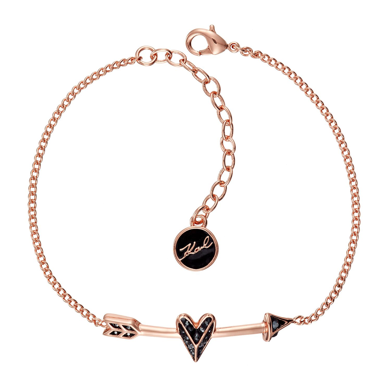 Karl Lagerfeld Ikonik Arrow Heart Rose Gold Plated Bracelet - Product number 2247178