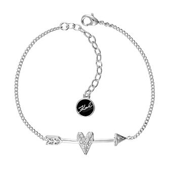 Karl Lagerfeld Ikonik Arrow Heart Rhodium Plated Bracelet - Product number 2247186