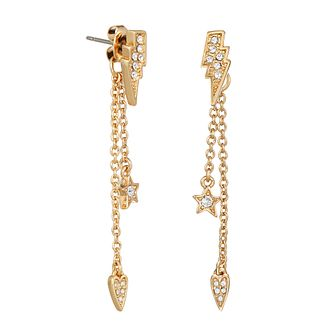 Karl Lagerfeld Ikonik Mini Gold Plated Drop Earrings - Product number 2247453