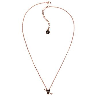 Karl Lagerfeld Ikonik Arrow Heart Rose Gold Plated Pendant - Product number 2247488