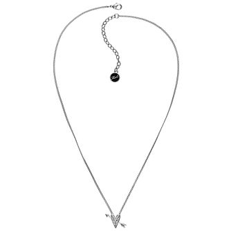 Karl Lagerfeld Ikonik Arrow Heart Rhodium Plated Necklace - Product number 2247496