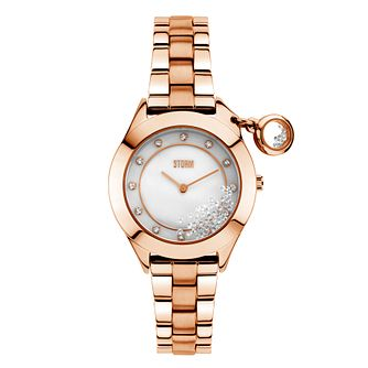 Storm Ladies' Sparkelli Mother of Pearl Crystal Charm Watch - Product number 2247542