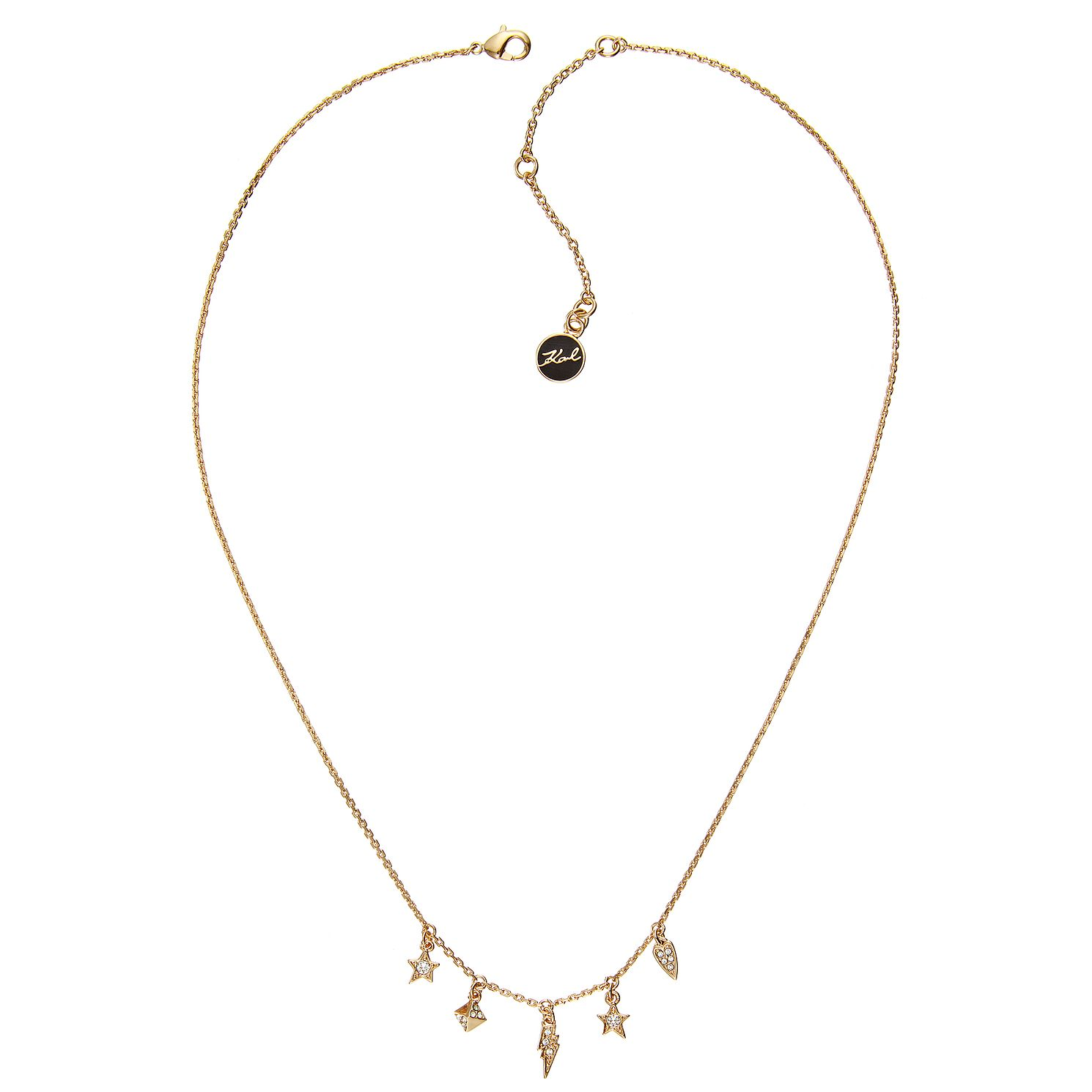 Karl Lagerfeld Ikonik Mini Gold Plated Necklace - Product number 2247666