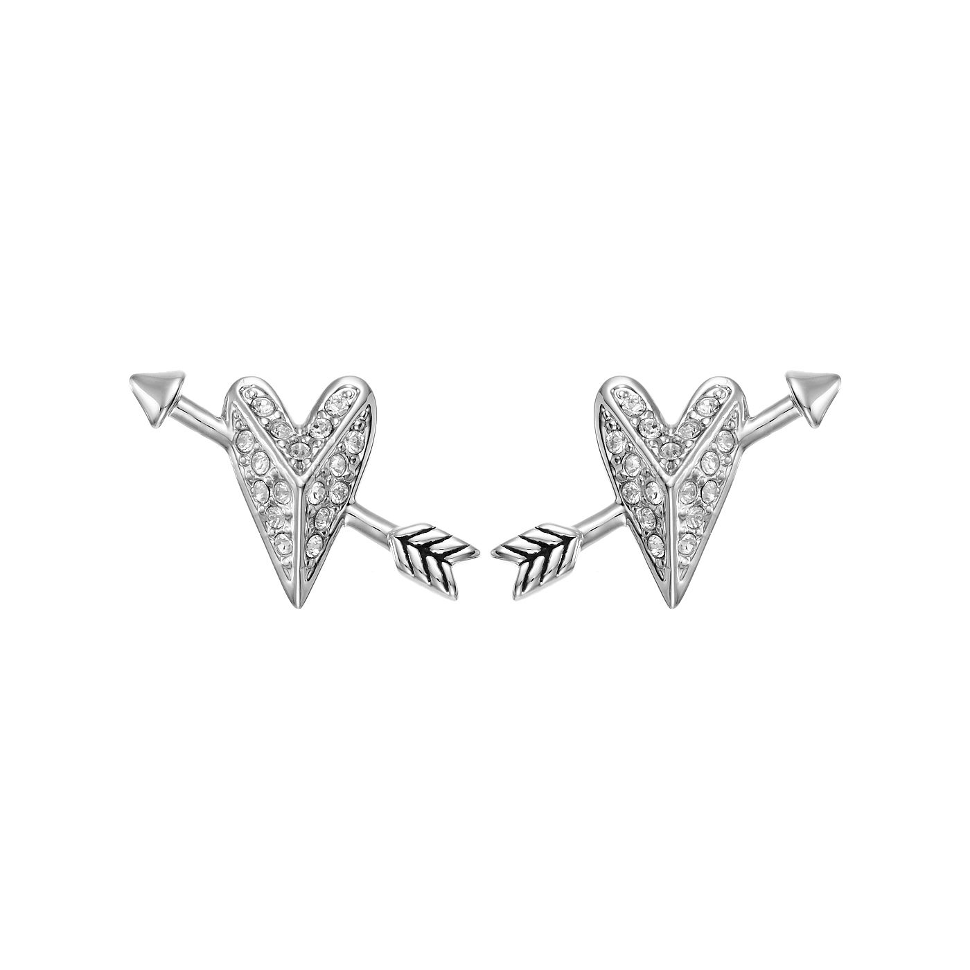 Karl Lagerfeld Ikonik Arrow Heart Rhodium Plated Arrings - Product number 2247739